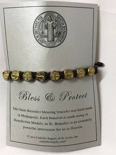 Brown/Gold Benedictine Bracelet bracelet, blessing bracelet, medjugorje bracelet, st benedict bracelet, colored bracelet, handmade bracelets, girl gift, boy gift, sacramental gift, healing gift, prayer gift, first communion gift, reconciliation gift, confirmation gift, graduation gift, quantity discounts, benedict bracelet