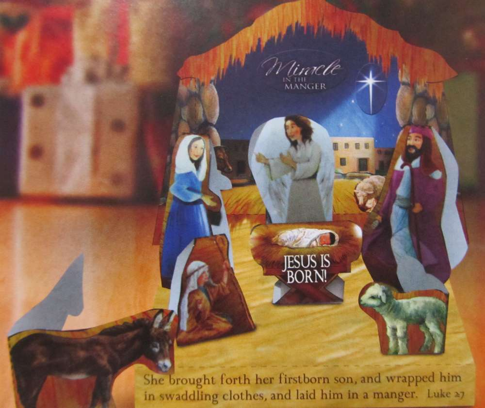 Build Your Own Nativity Set kids craft, manger craft, kid nativity craft, childrens gift, miracle in the manger, stocking stuffer, party favor, 12677-6, mim2ak