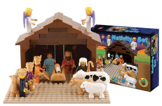 Building Block Nativity Set childrens gift, christmas gift, nativity gift, lego like gift, holiday gift, nativity block set, 761963380003