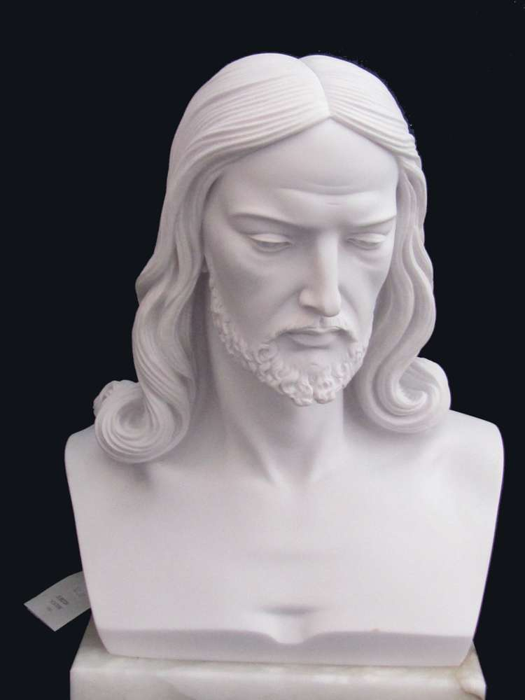 Bust of Christ Statue bust of chirst statue, jesus staue, head of christ statue, marble statue, italian made statue, 00022.40