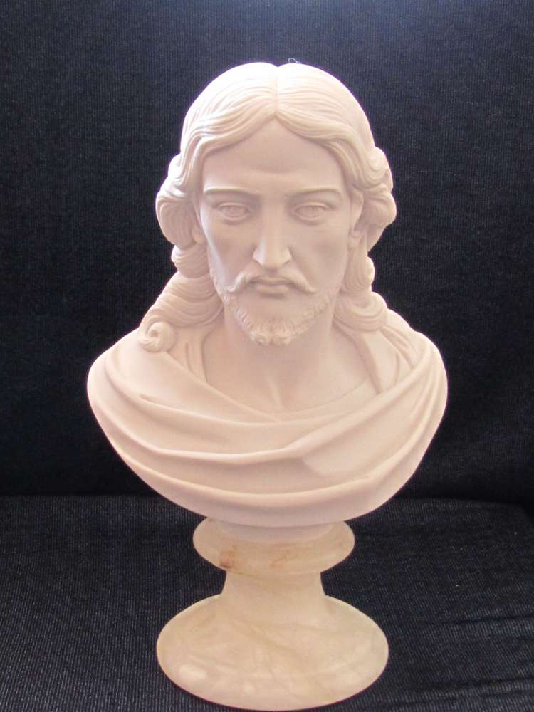 Bust of Christ Statue bust of chirst statue, jesus staue, head of christ statue, marble statue, italian made statue, 00034