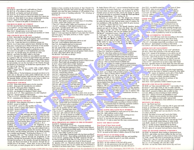Catholic Verse Finder verse finder, bible cheat sheet, bible cliff notes, bible guide, verse guide