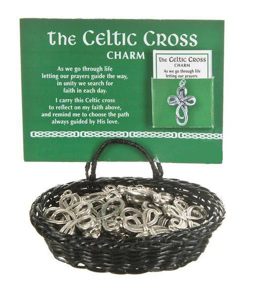 Celtic Cross Charms celtic charms, irish charms, celtic heart, irish gifts, pocket tokens, irish pocket token, party favors, er37041