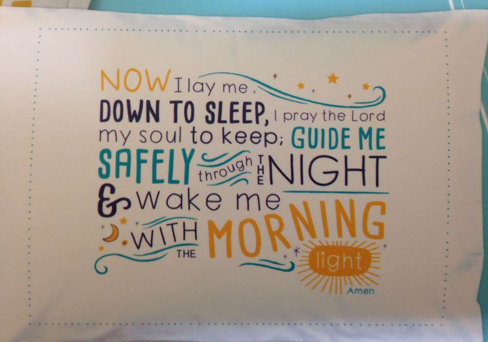 Children%27s Bedtime Prayer Pillowcase now i lay me down to sleep prayer, pillowcases, child%27s prayer, child%27s pillowcase, childs pillowcase