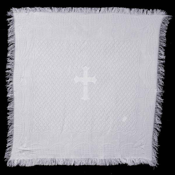 Christening Blanket with Embroidered Cross blanket, baptism blanket, christening blanket, baby gift, sacramental gift, b-22