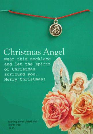 Christmas Angel Necklace angel necklace, christmas angel, stocking stuffer, gift, angel gift, jewelry gift,