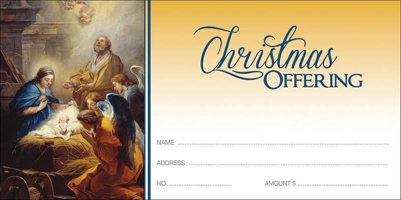Christmas Offering Envelope christmas, envelope, church supplies, offering envelope, nativity, 2939