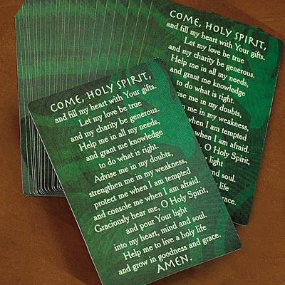 Come Holy Spirit Prayer Card prayer card, confirmation gift, holy spirit card, boy gift, girl gift, 48348C