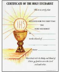 Communion Certificate with Envelope certificate, church goods, sacramental certificates, baptism, first communion, confirmation, marriage, death,200CM