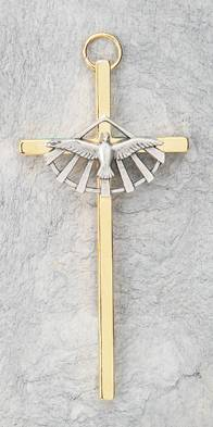 Confirmation Cross wall cross, wall crucifix, confirmation cross, holy spirit cross, confirmation gift, sacrametnal gift, RCIA gift. sponsor wall cross, sponsor gift
