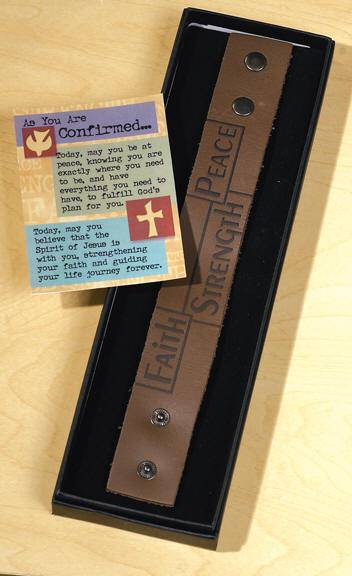 Confirmation Leather Band Bracelet leather bracelet, faith bracelet, peace bracelet, strength bracelet, confirmation jewelry, confirmation gift, boy gift, girl gift, unique gifts, holy spirit