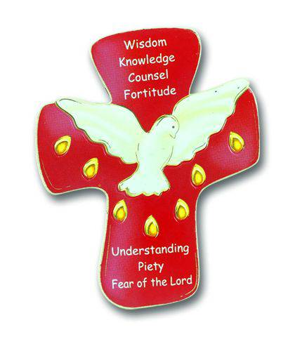 Confirmation Plaque Magnet confirmation cross, confirmation gift, magnet, wall cross, dove cross, holy spirit, 837-651