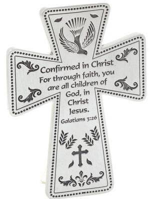 Confirmation Standing  Cross wall cross, wall crucifix, confirmation cross, holy spirit cross, confirmation gift, sacrametnal gift, RCIA gift. sponsor wall cross, sponsor gift