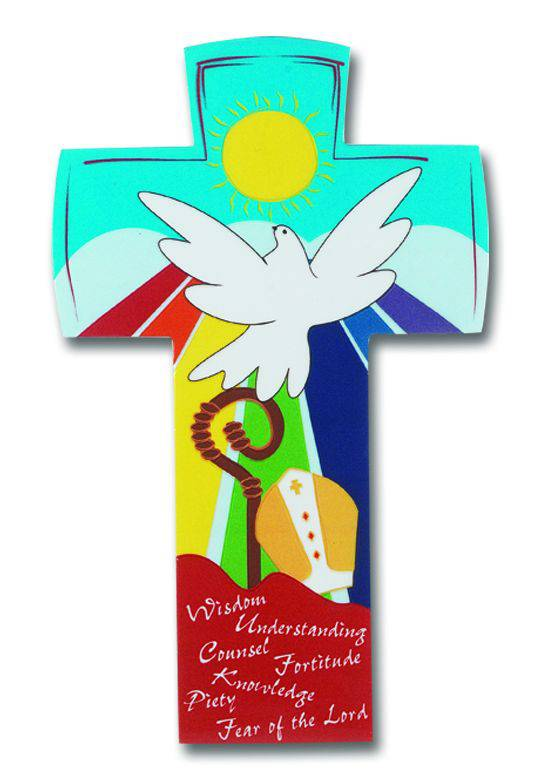 Confirmation Wall Cross  confirmation cross, confirmation gift, wall cross, dove cross, holy spirit, 1339, Italian cross