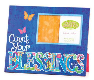 %27Count Your Blessings%27 Picture Frame picture frame, decor frame,  inspirational frame,  home gift, art work, religious art, art, wall decor, home decor,