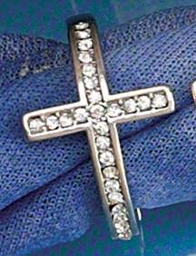 Cz Sideways Cross Ring silver plated, silver plated ring, cross ring, sideways cross ring, stretch ring, special occasion gift, mothers day gift, sacramental gift, 06047, CZ ring, purity ring, chastity ring, true love waits
