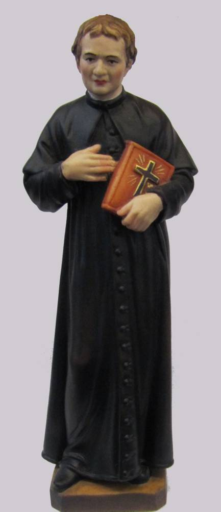 Don Bosco Statue solid wood statue, hand carved statue, italian made state, maple wood statue, home decor, church decor, colored statue, don bosco statue, jon bosco statue. 5063/20