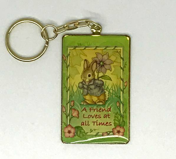 Easter Keychain  keychain, bunny keychain, easter keychain, easter gift, keyring, key holder, friend keychain, friend keyring, 56323
