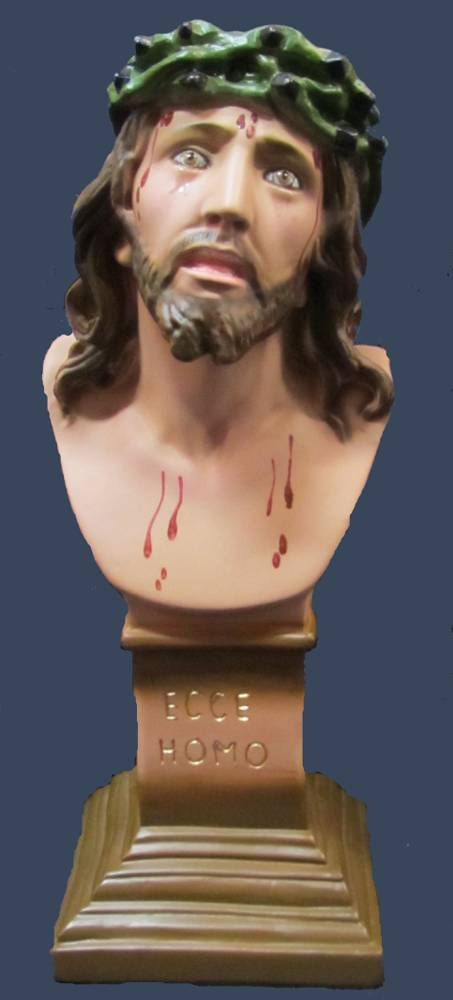Ecce Homo Statue plaster statue, italian plaster, made in italy, hand painted statue, home decor, church decor, ecce homo statue, jesus statue, SGECCEHO30