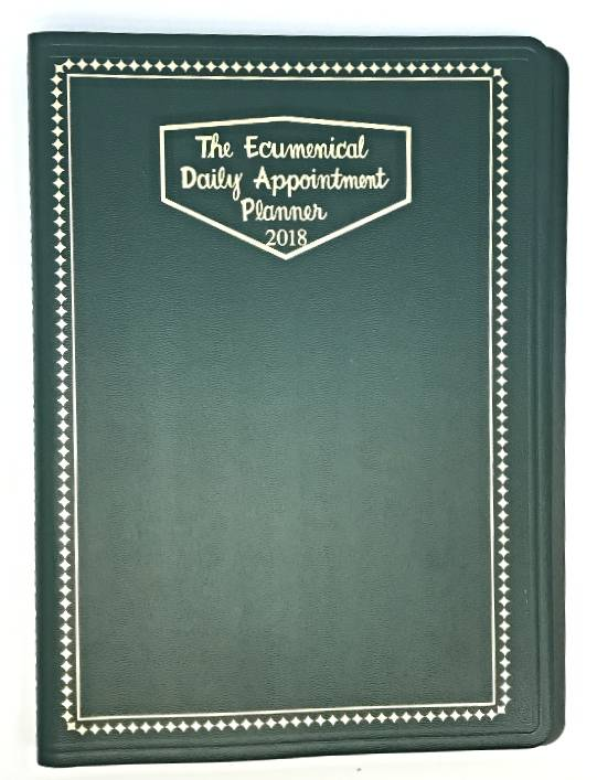 Ecumenical Appointment Planner- Regular ecumenical planner, appointment planner, religious planner, feast days, calendar, liturgical rank and color, church office supply, rectory supply,