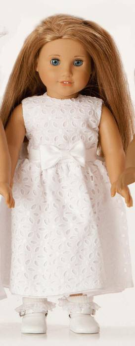 "Ella First Communion 18"" Doll Dress doll apparel, first communion dress for doll, doll dress, doll first communion dress,  white doll dress"