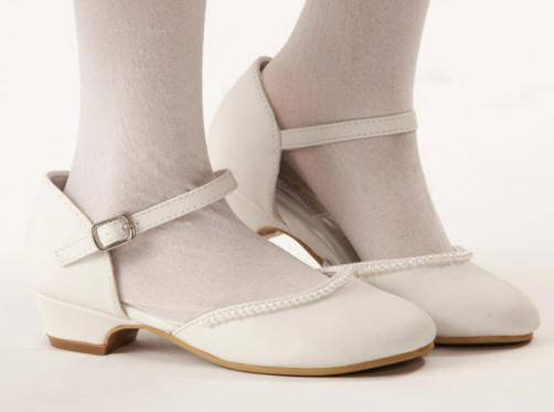 Ella Girls Shoe *WHILE SUPPLIES LAST* first communion shoe, white shoe, girls shoe, white ballet flat, white ballet shoe, special occasion shoe,