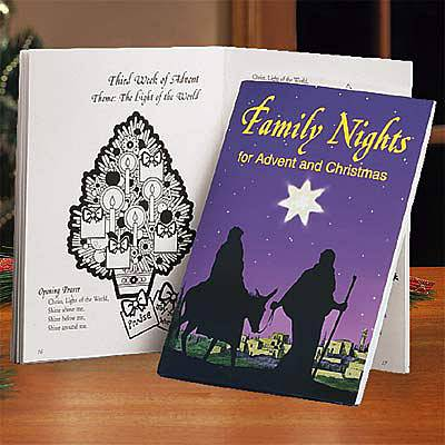 Family Nights For Advent and Christmas advent book, advent preparation materials, advent prep book, advent prayer book, advent for families, advent family nights
