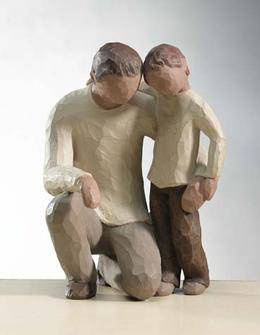 %27Father And Son%27  Willow Tree figurine, new dad figurine, willow tree, fathers day gift, new dad gift, father and son,