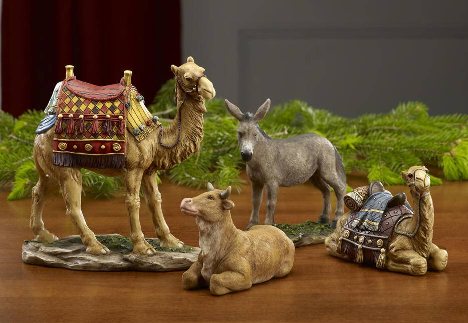 "First Christmas Gifts Animal Set, 10"" Scale nativity set, animal nativity set, 10"" nativity, ox, camel, christmas gift, wedding gift, 15509,GFM 026"