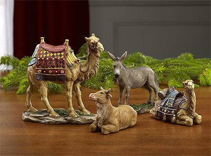 "First Christmas Gifts Animal Set, 7"" Scale nativity set, animal nativity set, 7"" nativity, ox, camel, christmas gift, wedding gift, 16609, GFM031"