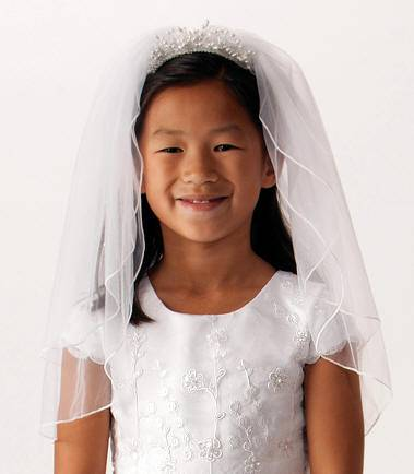 First Communion Comb Veil *WHILE SUPPLIES LAST* first communion, first communion veil, white veil, headband veil, eucharist veil, holy communion veil, comb veil