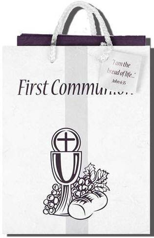 First Communion Gift Bag*WHILE SUPPLIES LAST* First communion gift, first communion gift bag, gift wrap, gift tissue, holy eucharist gift bag,