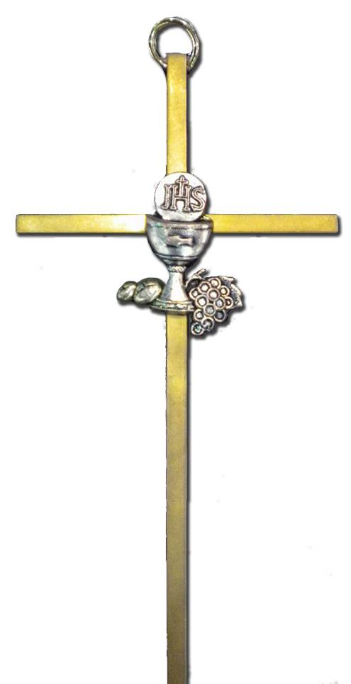 First Communion Wall Cross wall cross, first communion cross, eucharist cross, girl cross, boy cross, brass cross, communion cross