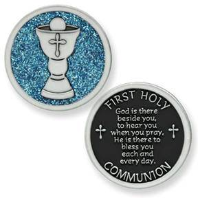 First Holy Communion  Pocket Token first communion gift, first communion cross pocket token, first communion pocket token, boy gift, girl gift, holy eucharist gift, holy eucharist pocket token,