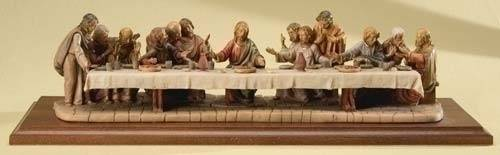 Fontanini Last Supper last supper statue, last supper table top, fontanini, made in italy, polymer, resin, wood,art work, religious art, art, wall decor, home decor,