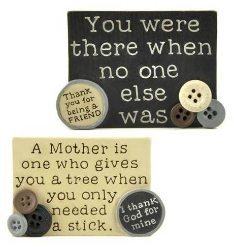 Friend/Mother Plaque with Buttons