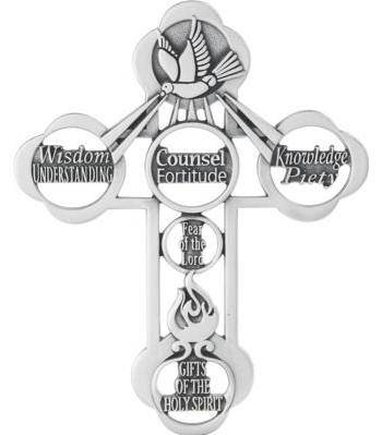 Gifts Of The Holy Spirit Wall Cross wall cross, wall crucifix, confirmation cross, holy spirit cross, confirmation gift, sacrametnal gift, RCIA gift. sponsor wall cross, sponsor gift