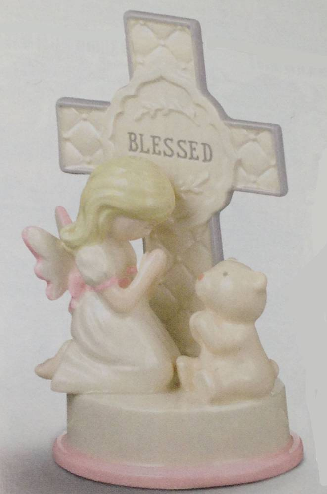 Girl Blessed Figurine first communion girl figure, gift, holy eurcharist gift, first communion gift, statue,girl statue, baptism girl, blessed cross, 470983