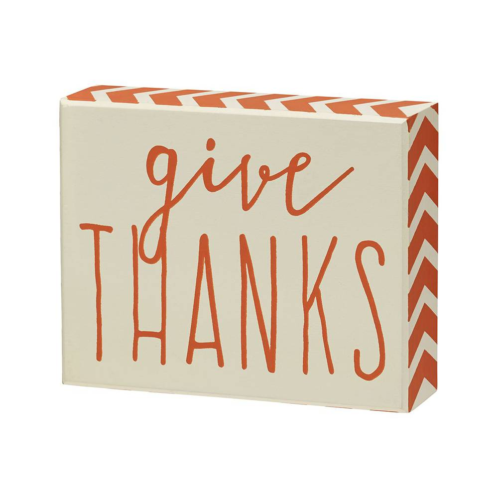 Give Thanks Box Sign cmas15b, box sign, box message holder, home decor, inspriational message, house gift, PS-4696