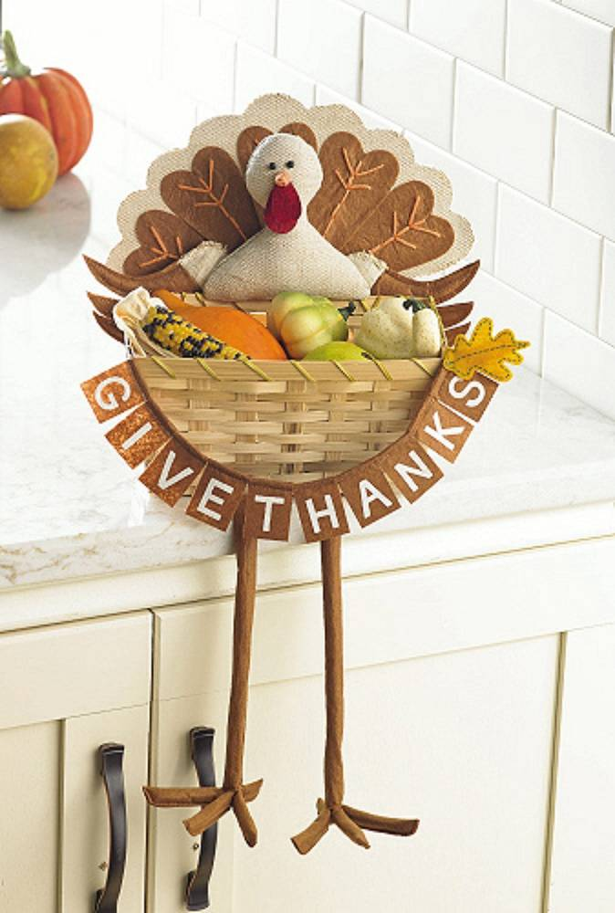 Give Thanks Turkey Basket