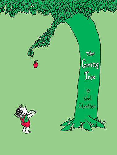 The Giving Tree, Hardcover The Giving Tree by Shel Silverstein, shell silverstein, shell silversteen, giving tree book, children%27s book