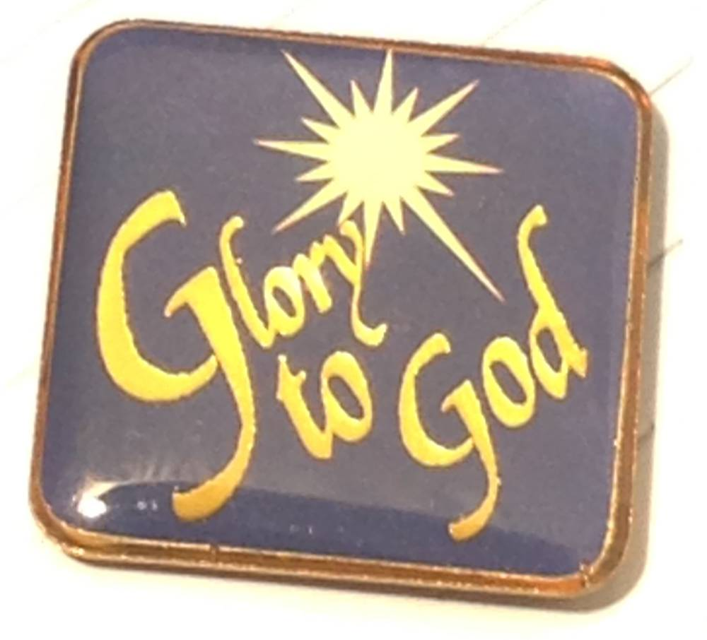 Glory to God Calligraphy Lapel Pin Lapel pin, shirt pin, seasonal pin, glory to god, christmas, stocking stuffer, retrieat, 72381