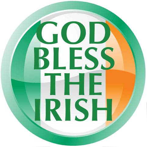 God Bless The Irish Car Magnet %27God Bless the Irish%27, car magnet, guardian angel, auto decor, auto magnet, round magnet,
