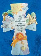 God Created Everything Child  Wall Cross new baby, new baby gift, baptism gift, baptism, christening, christening gift, picture wall cross, wall cross, baby cross, child cross, shower gift, baby item, baby cross