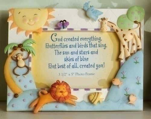 God Created Everything Frame frame, baby frame, shower gift, new baby gift, picture frame gift, baptism gift, christening gift, baby theme, baby gift, 46548