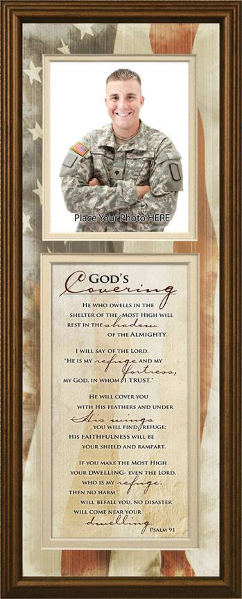 God%27s Covering Photo Frame Wall Plaque army, navy, marines, national guard, military prayer, military protection, us military,
