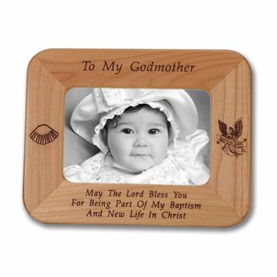 godmother laser engraved maple wood photo frame god mother gift godmother gift godmother present