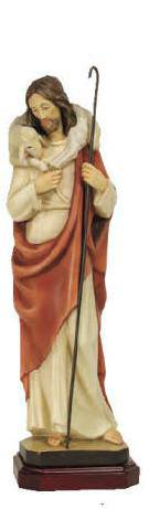 Good Shepherd Statue good shepherd statue, jesus statue, shepherd and lamb statue, home decor, church decor, demetz, 100/26DC12