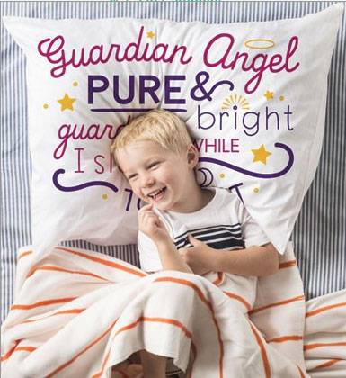 Guardian Angel Prayer Pillowcase guardian angel, guardian angel prayer, prayer to angel, angel gift, angel child, pillow case, angel pillowcase, angel pillow case