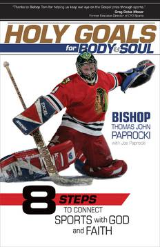 Holy Goals for Body & Soul: 8 Steps to Connect Sports with God and Faith book, sports book, fathers day gift, dad gift, boy gift, sports gift, inspirational book, Bishop Thomas John Paprocki